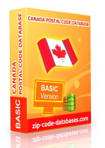 canada basic zip code database