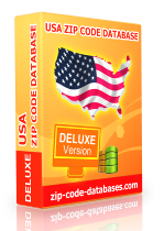 usa deluxe zip code database